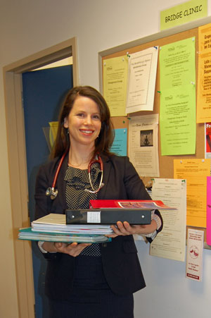 Saving trees and time: refugeehealth.ca replaces Bridge Clinic files and binders, eliminating wasted time and frustration trying to find resources to serve patients.